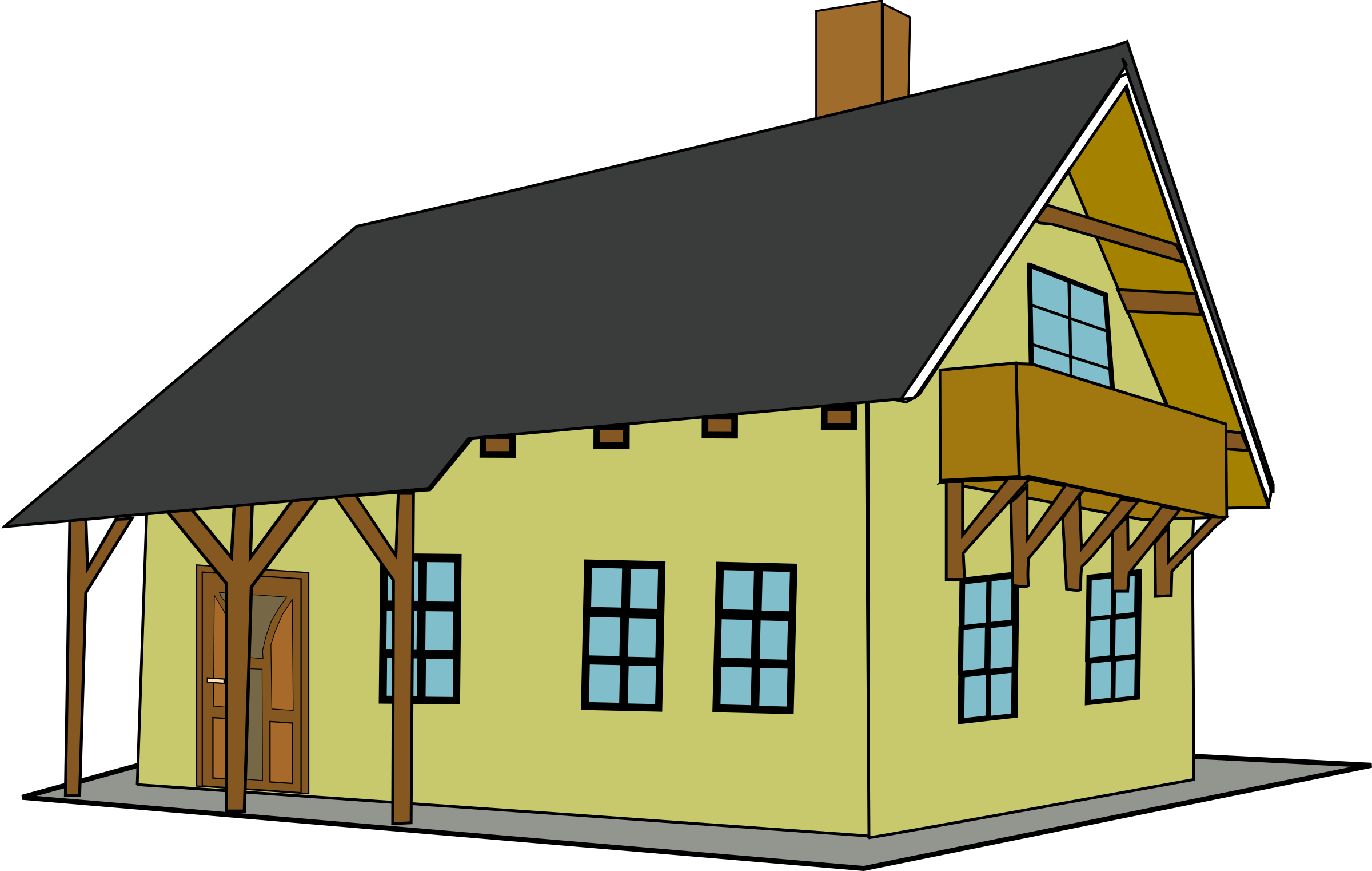 Nice house clipart png royalty free Clipart - House 1 png royalty free