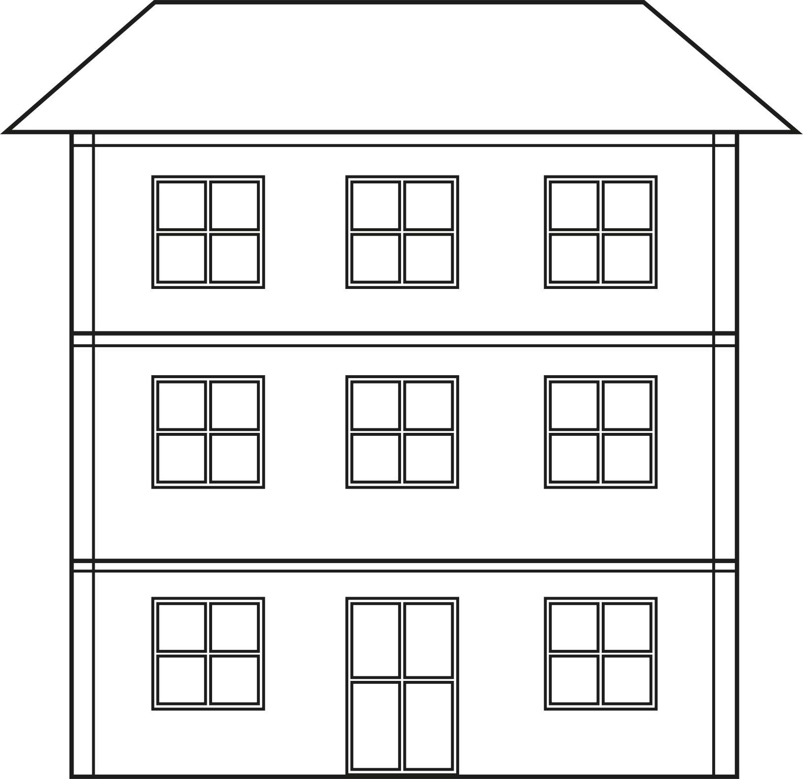 Big house clipart black and white clipart library stock PNG House Black And White Transparent House Black And White.PNG ... clipart library stock