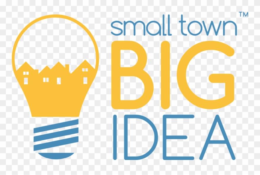 Big ideas clipart jpg stock Smalltownbigidea Logo Transparency Knockout - Small Towns Big Ideas ... jpg stock
