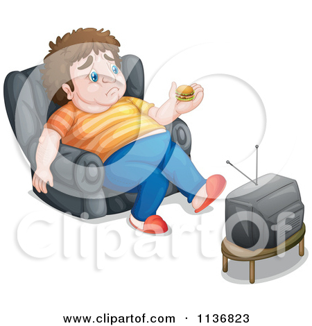 Big man small boy clipart vector black and white stock Cartoon Of A Fat Man Drinking Beer And Watching TV - Royalty Free ... vector black and white stock