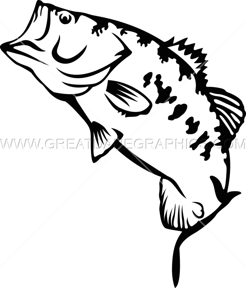 Big mouth bass fish clipart clipart library download Large Mouth Bass | Production Ready Artwork for T-Shirt Printing clipart library download