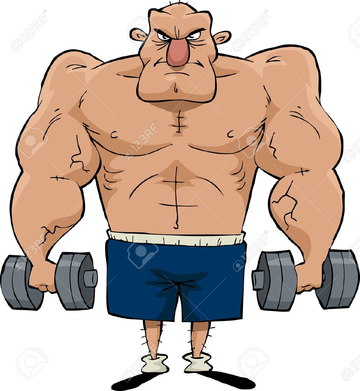 Muscle Man Clipart | Free download best Muscle Man Clipart on ... clip art freeuse library