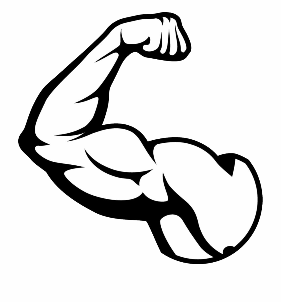 Muscle Arm Png Picture - Muscles Clipart Black And White Free PNG ... clip royalty free stock