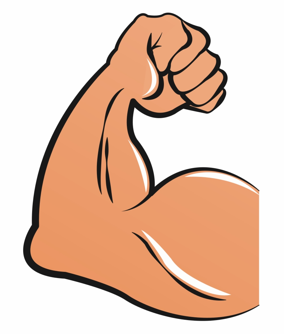 Muscular Arms Cartoon - Biceps Clipart, Transparent Png Download For ... clip art download