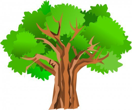 Oaktree clipart banner black and white library Cartoon Oak Tree Group with 58+ items banner black and white library