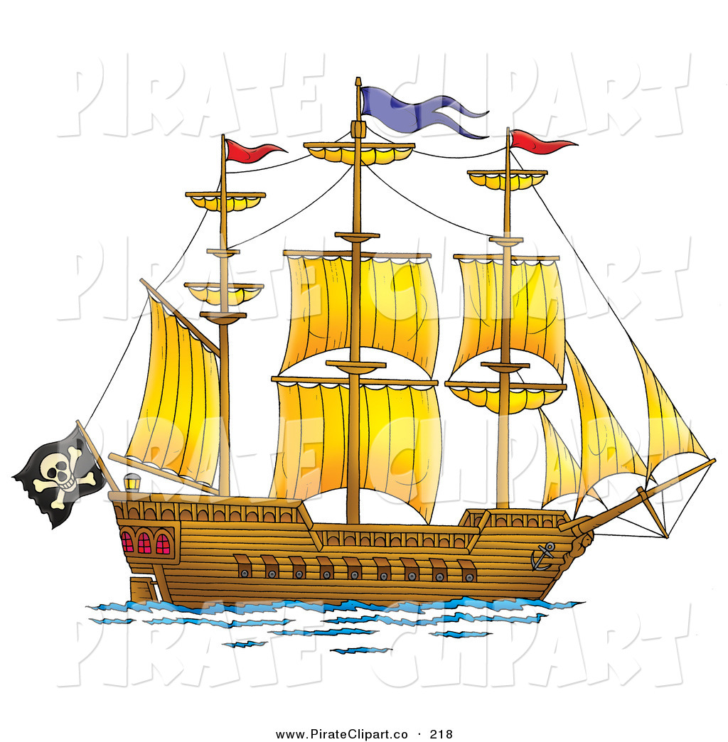 Big pirate ship clipart vector black and white library Free Pirate Ship Clip Art, Download Free Clip Art, Free Clip Art on ... vector black and white library