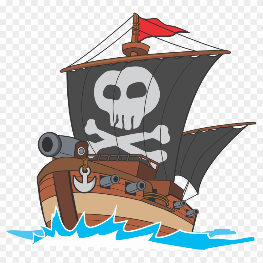 Big pirate ship clipart svg freeuse library Big Image - Pirate Ship Drawing Png, Transparent Png - 2350x2238 ... svg freeuse library