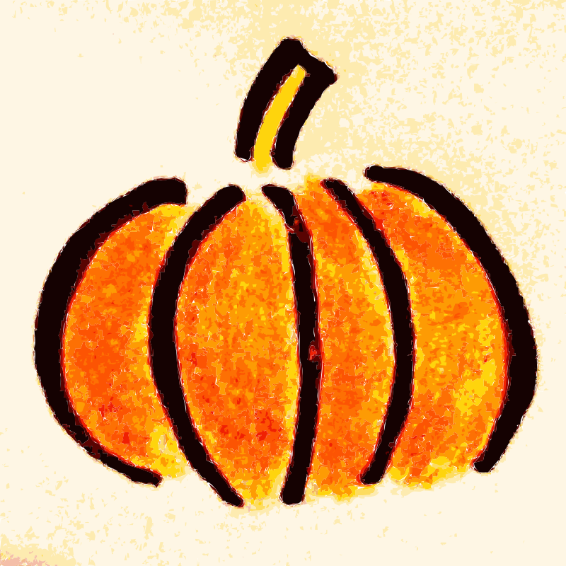 Pumpkin and gourd clipart clip royalty free library Clipart - Hand drawn Pumpkin Clipart clip royalty free library