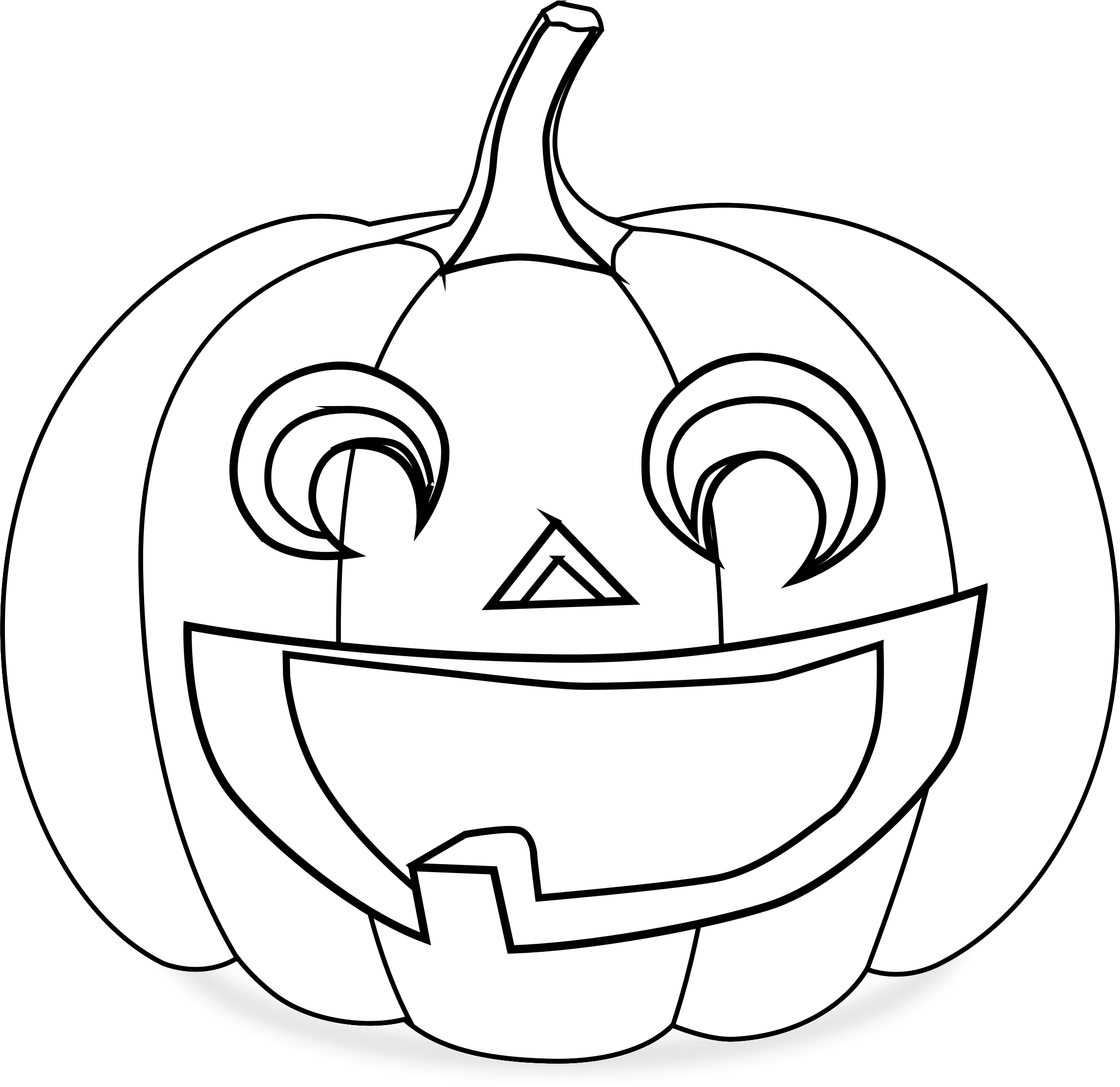 Coloring page pumpkin clipart vector free library Clipart - Pumpkin Coloring Page vector free library