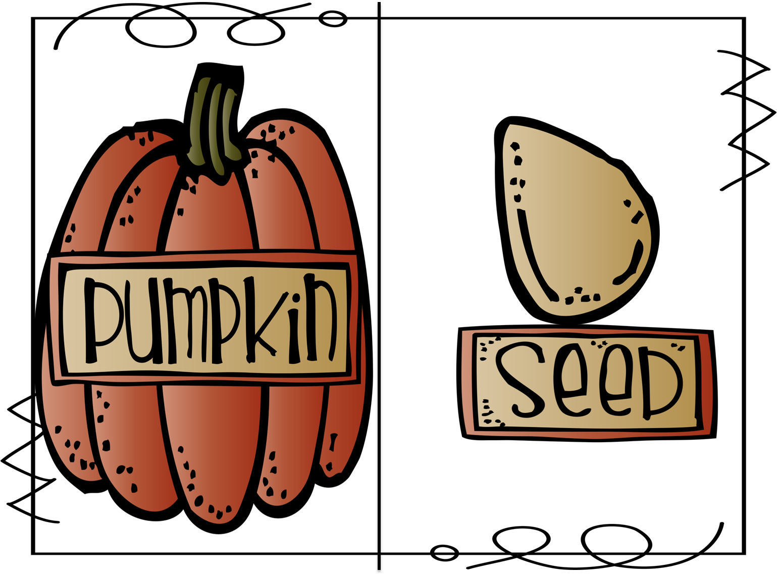 Big pumpkin story clipart image library stock What's Your Seed Story? | First Grade Wow | Bloglovin' image library stock