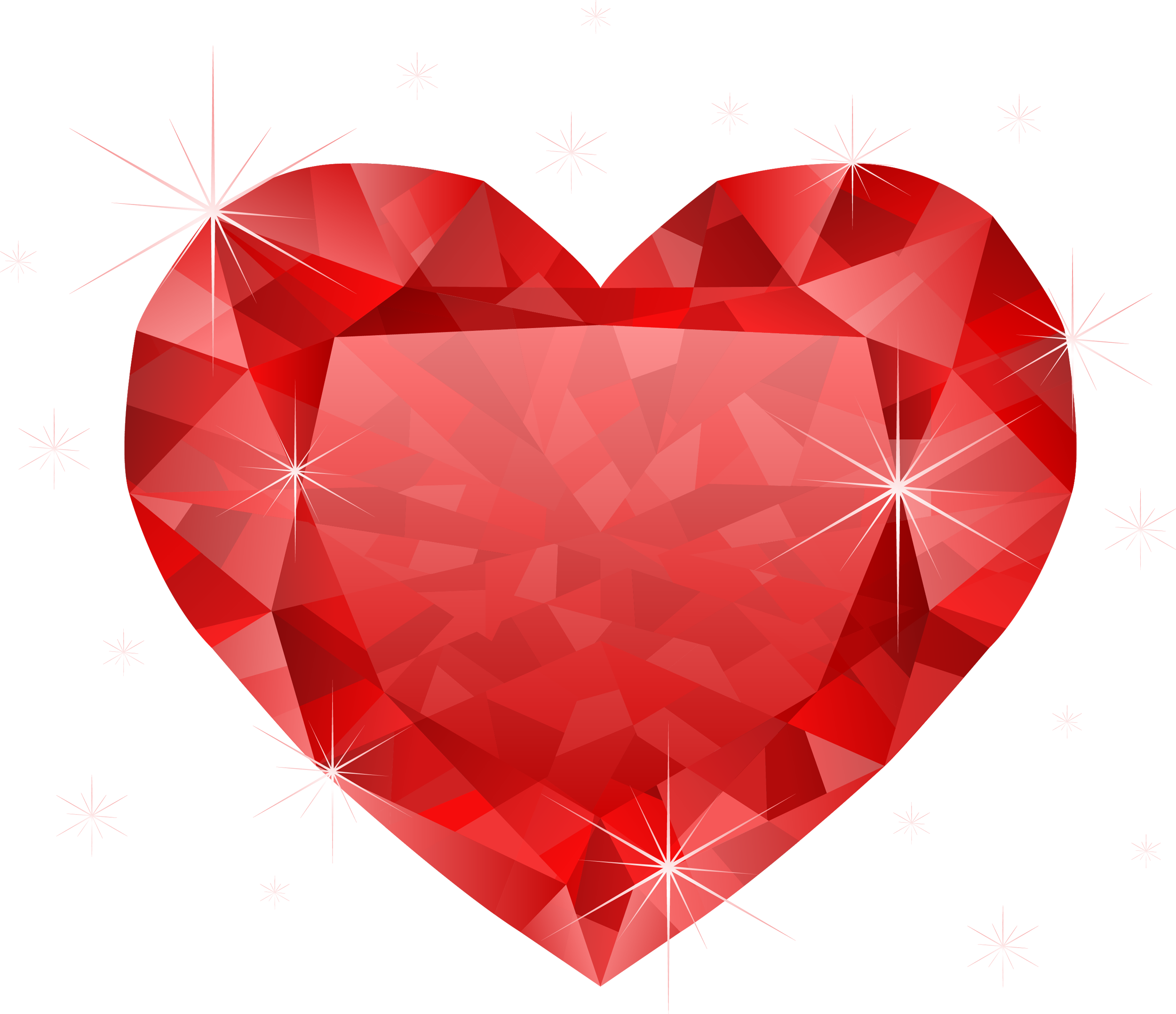 Fat heart clipart vector library download Large Transparent Diamond Red Heart PNG Clipart | CLIPART | Pinterest vector library download