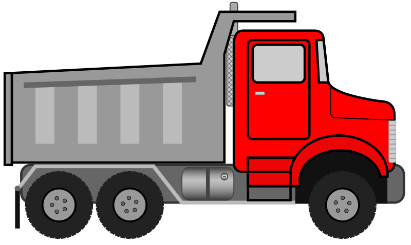 Red cliparts download clip. Free clipart of dump truck with load