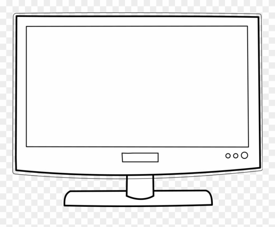 Big screen tv clipart transparent download Big Screen Tv Clip Art Cliparts - Clipart Of Television Black And ... transparent download