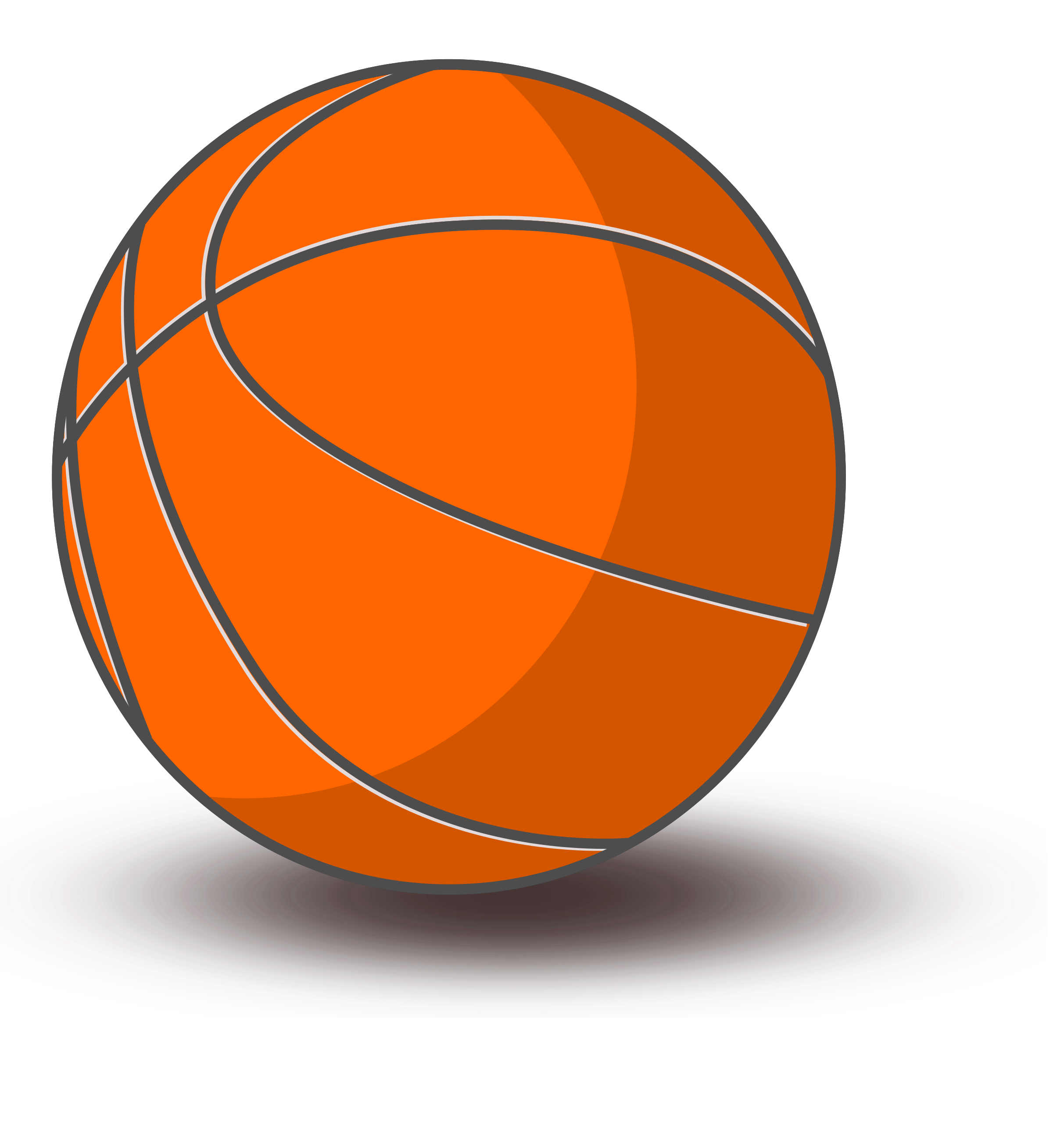 Basketball shadow clipart clipart black and white Clipart - Basketball clipart black and white