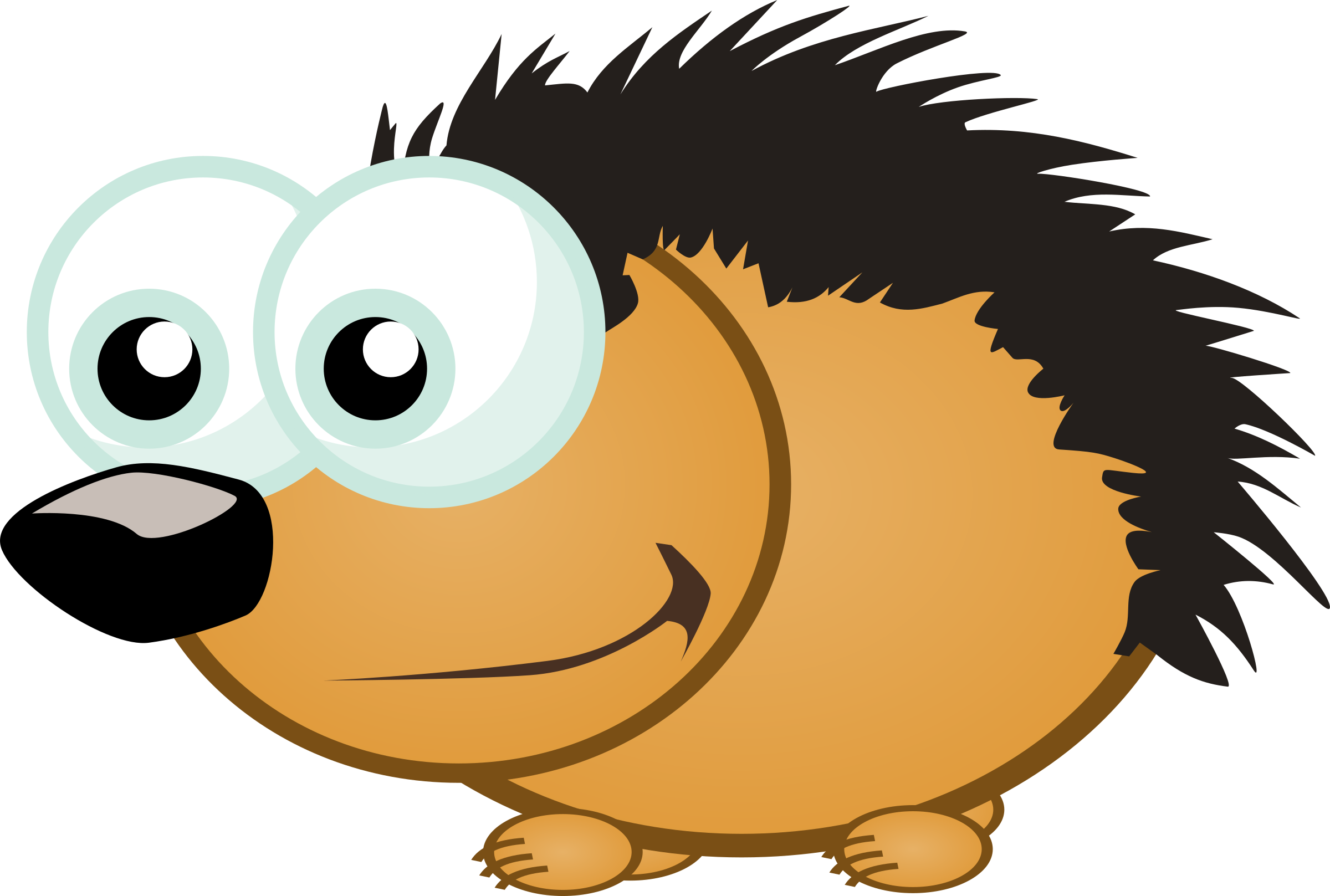 Big small clipart svg free stock Clipart - Small Hedgehog svg free stock