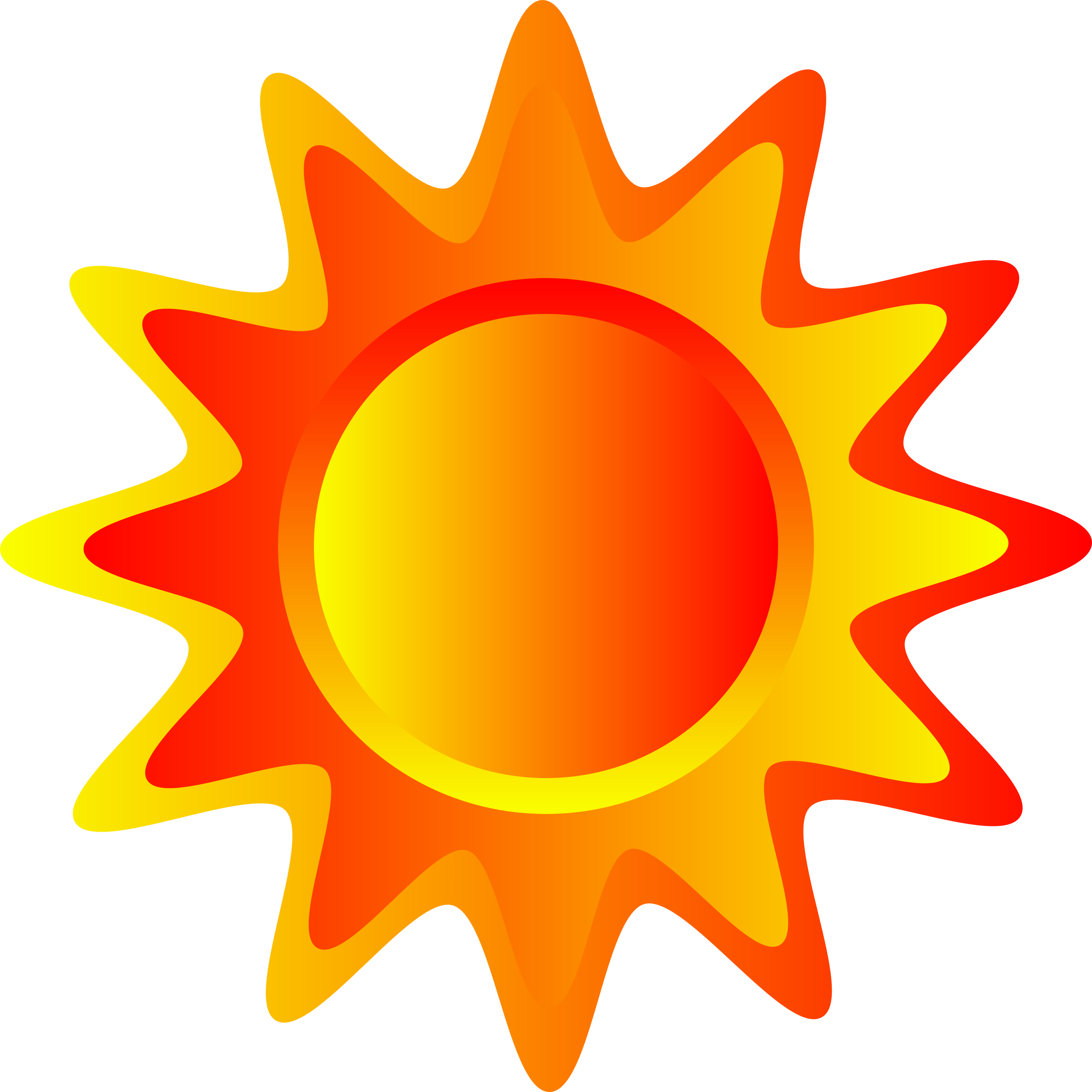 Big sun clipart banner stock Clipart - Red, orange and yellow sun banner stock