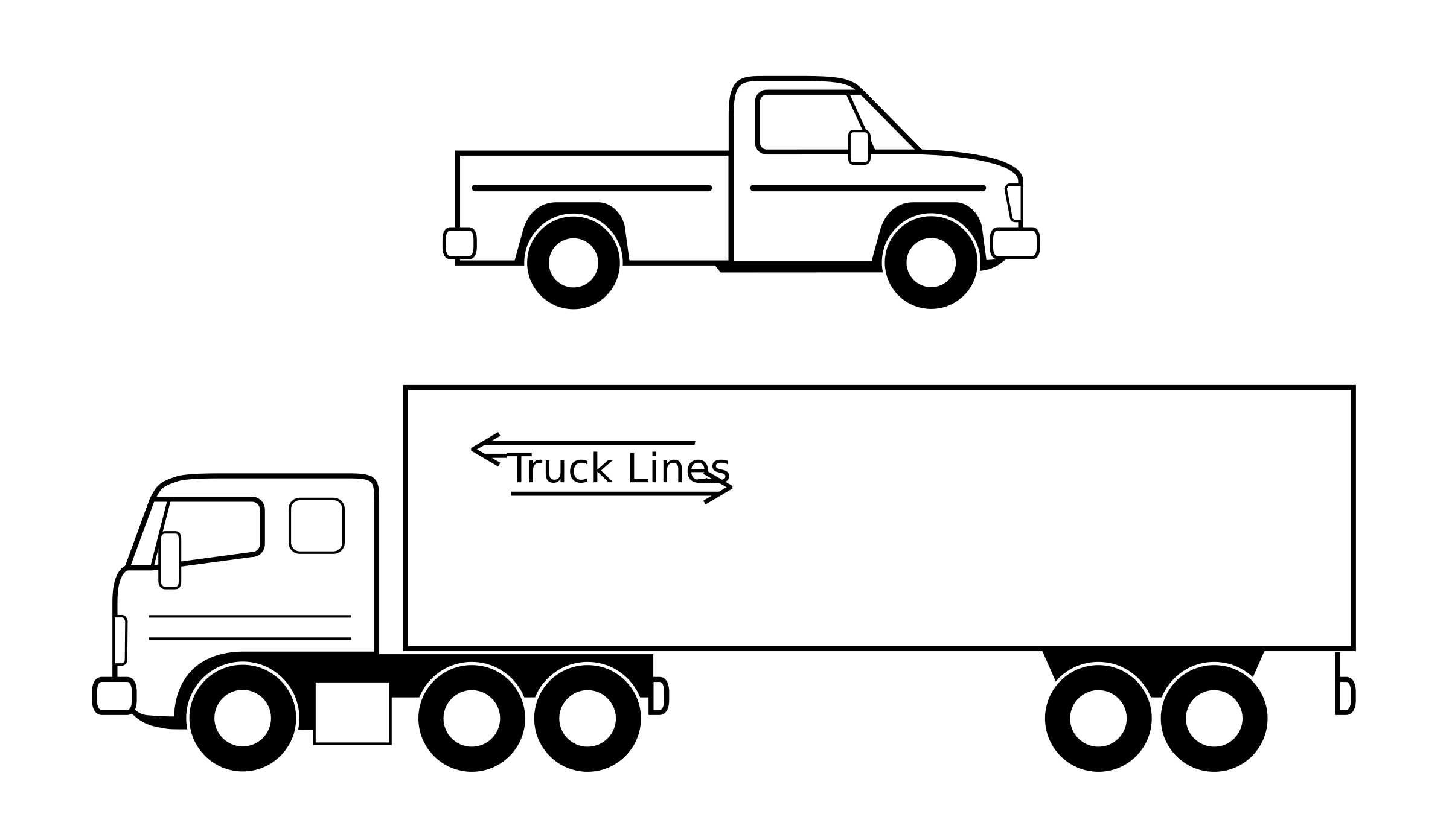 Big truck clipart black and white graphic download Semi truck big clipart clipartandscrap - ClipartBarn graphic download