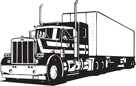 Big truck clipart black and white clip download Image result for transfer truck peterbilt | Semi Truck Drawings ... clip download
