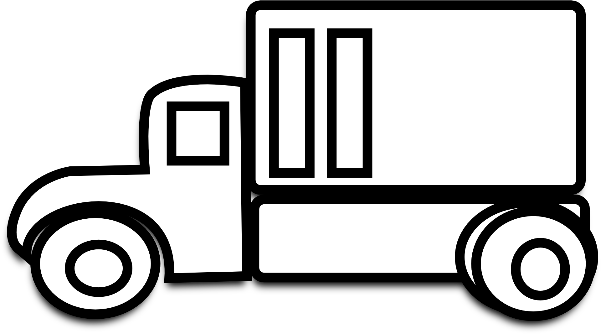 Big truck clipart black and white vector library stock Car Clipart Black Background - Car Clipart Black And White Free ... vector library stock