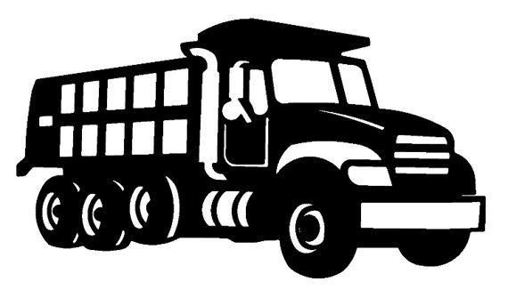 Big truck clipart black and white picture royalty free stock Dump Truck SVG | A Shirt here and a sign there. | Dump trucks ... picture royalty free stock