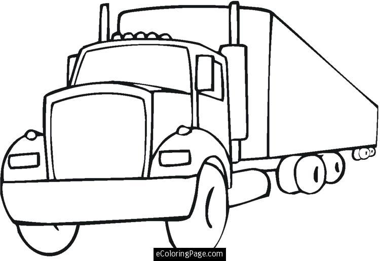 Big truck clipart black and white picture black and white stock Truck black and white semi truck clipart free download clip art ... picture black and white stock