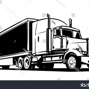 Big truck clipart black and white svg transparent download Truck Clipart Black And White Semi Panda Free Images Big Rig Royalty ... svg transparent download