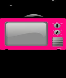 Big tv clipart vector royalty free download Big Pink Tv Clip Art at Clker.com - vector clip art online, royalty ... vector royalty free download