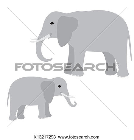 Of and elephant k. Big vs little clipart