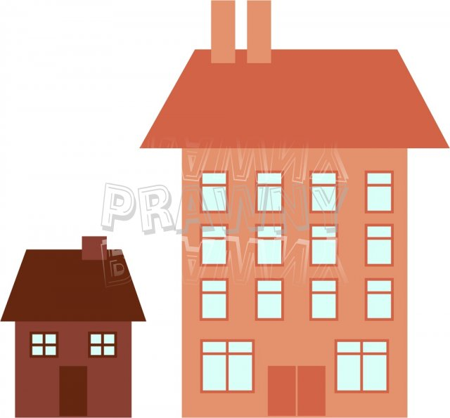 Little clipartfox house . Big vs small clipart