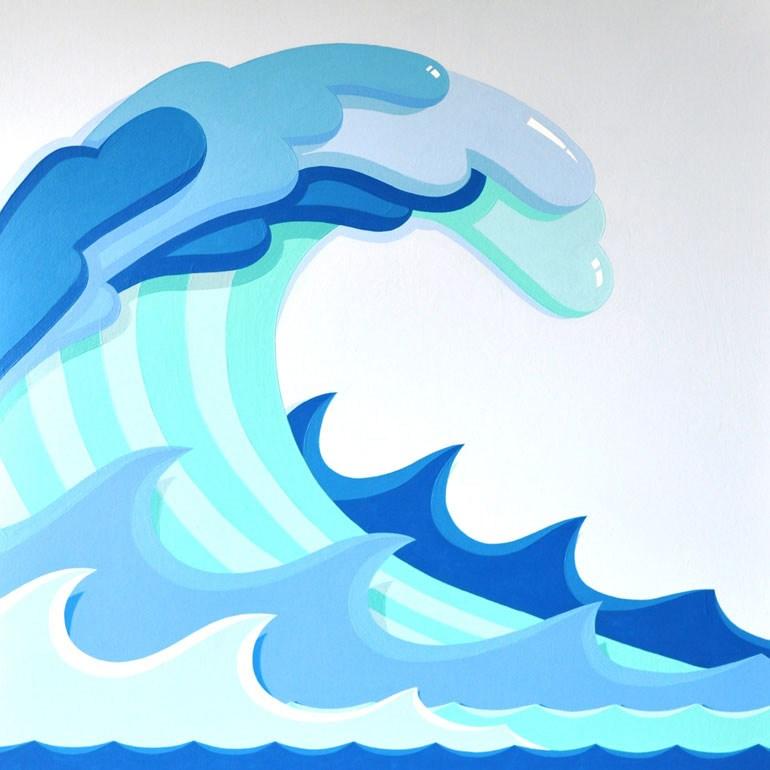 Big waves clipart