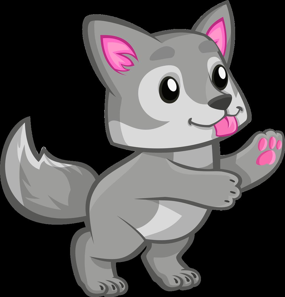 Wolf child clipart