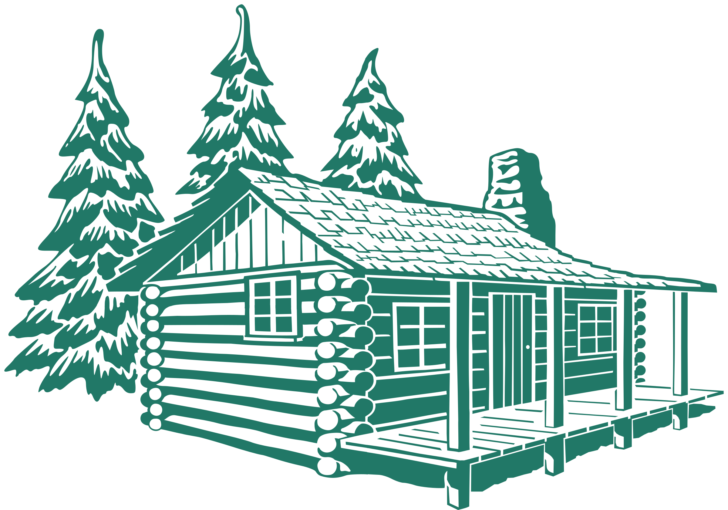 Big wooden house clipart jpg royalty free library Clipart - Cabin Hebrews 3 4 for plotter jpg royalty free library