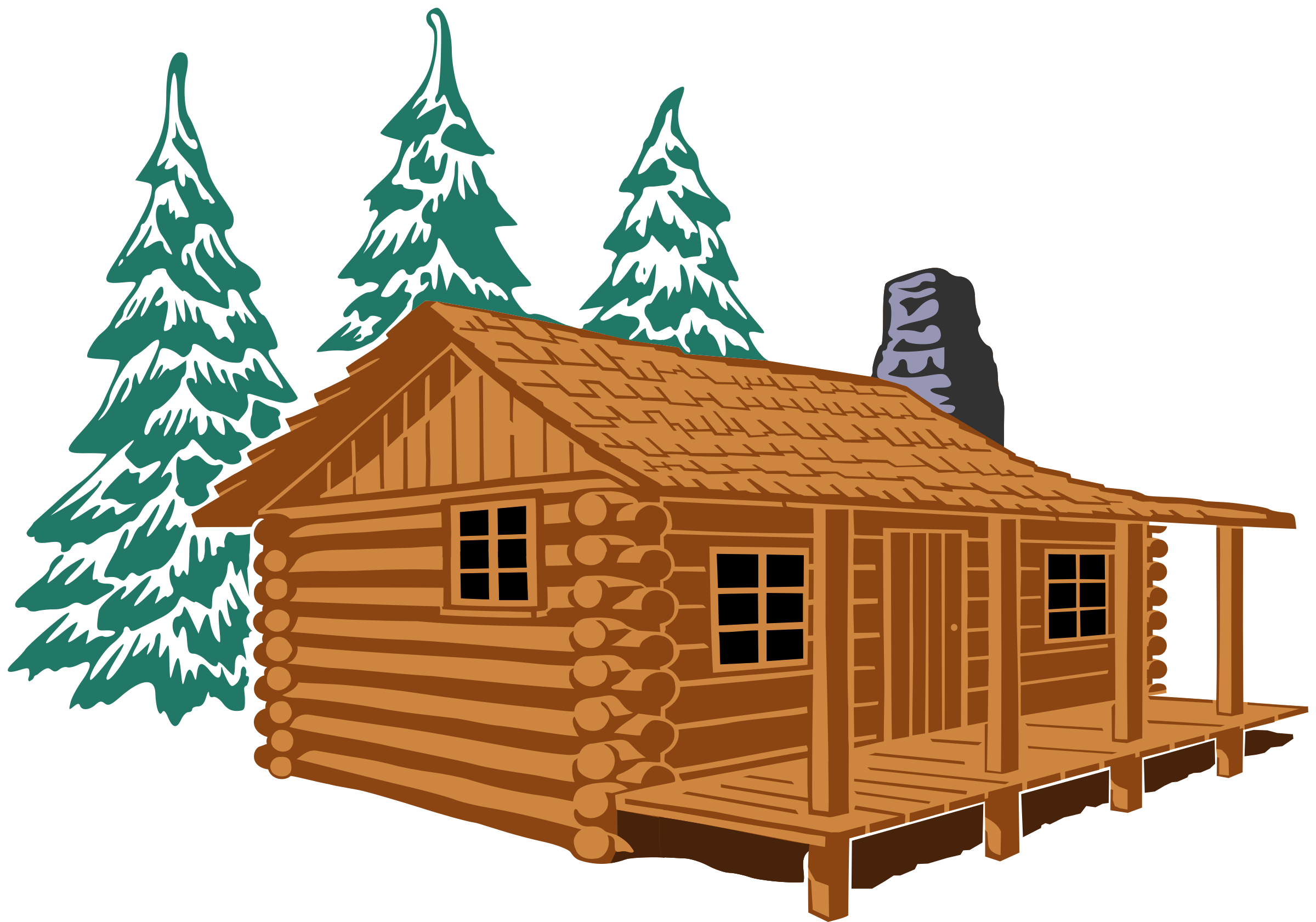 Big wooden house clipart png free stock Clipart - Cabin Hebrews 3 4 Remix png free stock