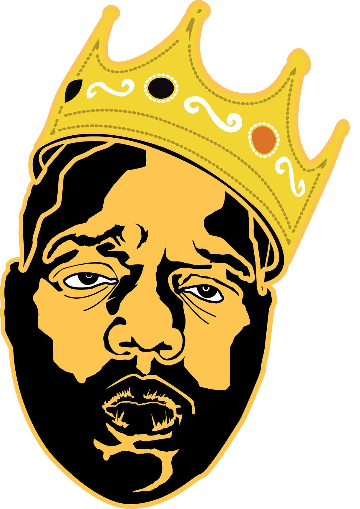 Biggie smalls with crown clipart clip royalty free Notorious BIG SVG Cut File | Black Cap Etsy Shop in 2019 | Cutting ... clip royalty free