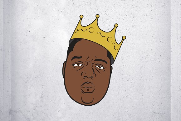 Biggie smalls with crown clipart jpg black and white library Free Tupac Shakur Clipart biggie, Download Free Clip Art on Owips.com jpg black and white library