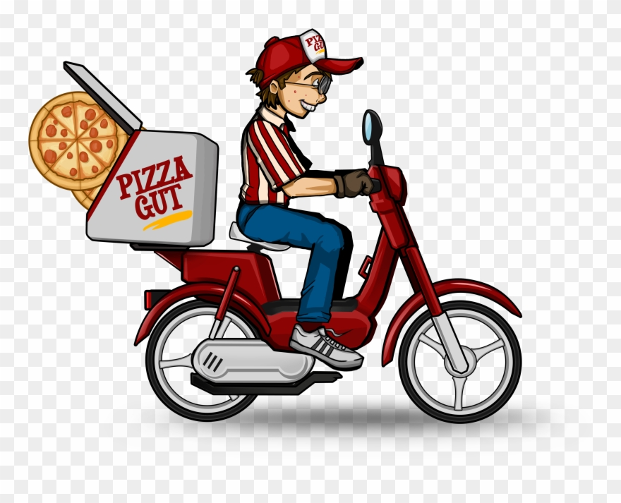 Bike and scooter rodeo clipart svg library library Bike - Pizza Delivery Bike Clipart (#1700613) - PinClipart svg library library