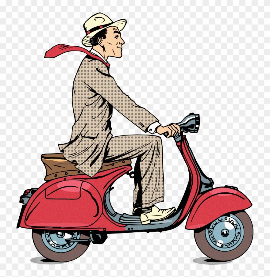Bike and scooter rodeo clipart clip freeuse download Bike - Vespa Clipart (#3193244) - PinClipart clip freeuse download