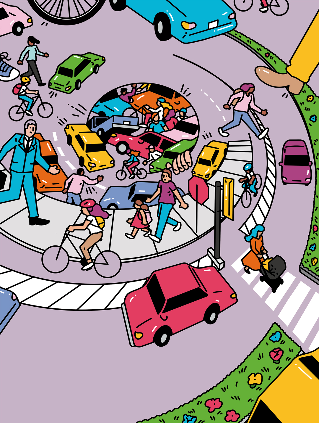 Bike at crosswalk safety clipart banner royalty free library Why are pedestrian and bicyclist deaths increasing in metro Atlanta ... banner royalty free library