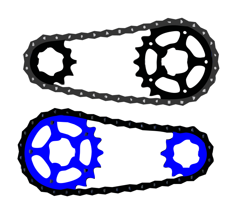 Bike chain clipart graphic Free Clipart: Bicycle chain vector | kingston123 graphic