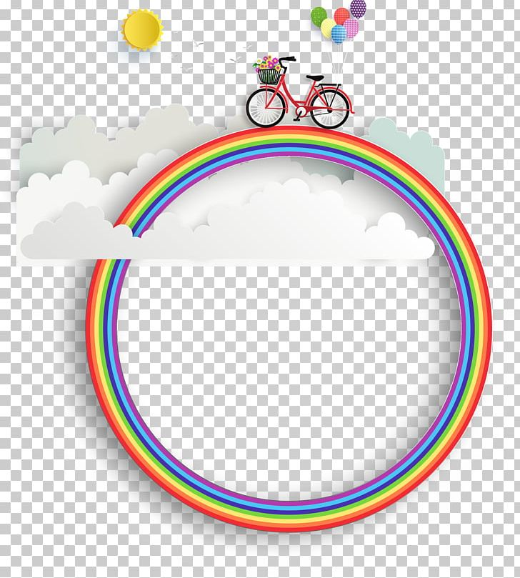 Bike clipart about rainbows png library library Bicycle Rainbow PNG, Clipart, Area, Balloon, Circle, Clouds, Cycling ... png library library