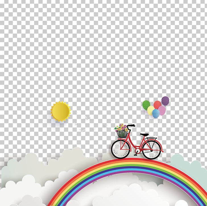 Bike clipart about rainbows jpg stock Euclidean Illustration PNG, Clipart, Balloon, Bicycle, Bike, Bikes ... jpg stock