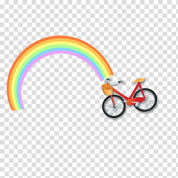 Bike clipart about rainbows banner free download Rainbow Euclidean Bicycle, Rainbow Cycling transparent background ... banner free download