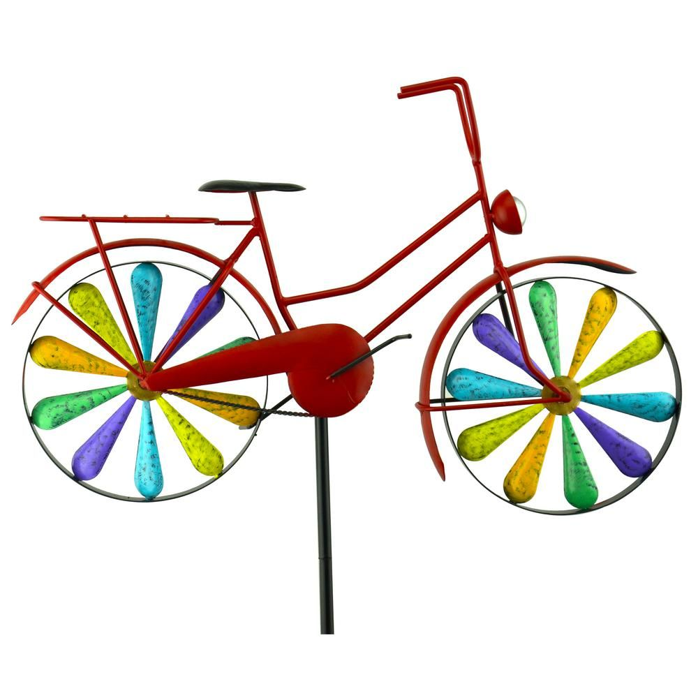 Bike clipart about rainbows clip art black and white library Red Carpet Studios 51 in. Metal Rainbow Bike Spinner | Products ... clip art black and white library
