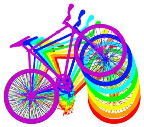Bike clipart about rainbows jpg royalty free Rainbow Bike Gif by mrcolortvjr on DeviantArt jpg royalty free
