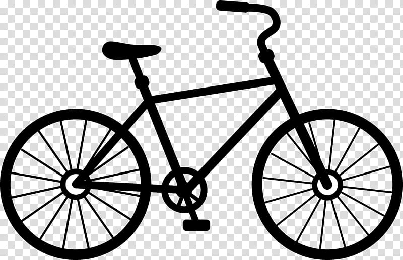 Bike clipart transparent vector black and white stock Bicycle Cycling Free content , Cartoon Bicycle transparent ... vector black and white stock