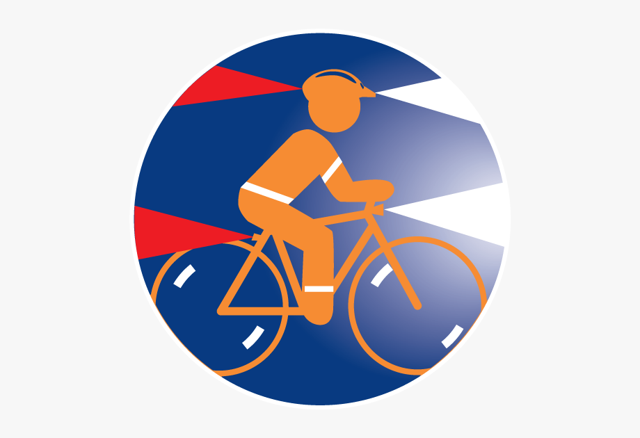 Bike lights clipart image library library Wear A Helmet And Use Lights - Hybrid Bicycle #1975445 - Free ... image library library