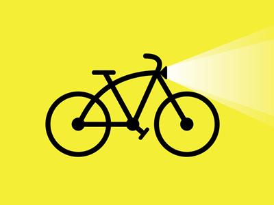 Bike lights clipart svg transparent library Bike Light by Mike van der Mark on Dribbble svg transparent library