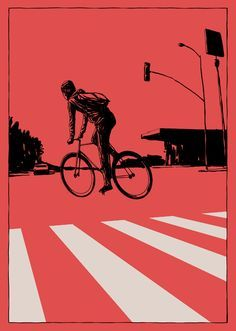 Bike messenger radio call clipart