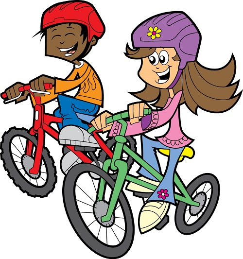 Bike parade clipart graphic free download Fourth of july bike parade and safety rodeo prince peace clip art ... graphic free download
