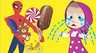 Bike riders eating icecream clipart clipart library download Masha Crying when Eating Ice-Cream and Riding a bicycle with ... clipart library download